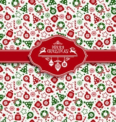 Seamless pattern of christmas texture icons vector