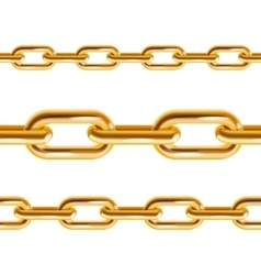 Chain gold vector