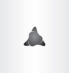 Black stone triangle shape icon vector