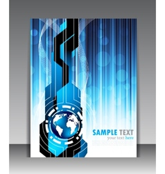 Abstract blue poster vector