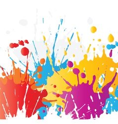 grunge paint splat background vector image