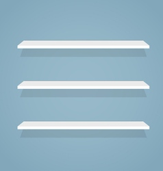 Flat shelves vector image
