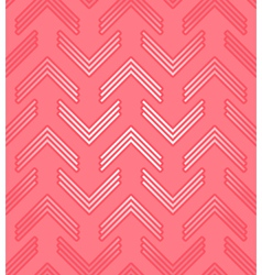 Red corner pattern vector image