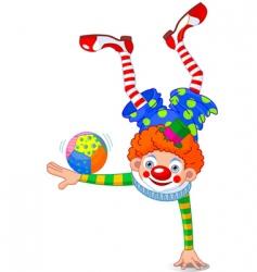 acrobat clown vector image vector image