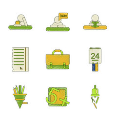 assembly flat shading style icon education school vector image