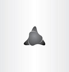 black stone triangle shape icon vector image vector image