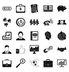 Business people icons set simple style vector