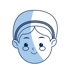 cartoon face woman manger catholic image vector image