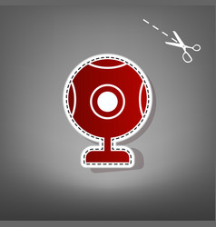 Chat web camera sign red icon with for vector
