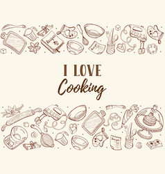 Cooking time poster vector