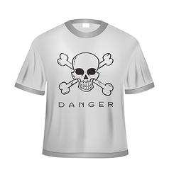 Danger t shirt vector image