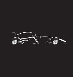 formula car vector image vector image