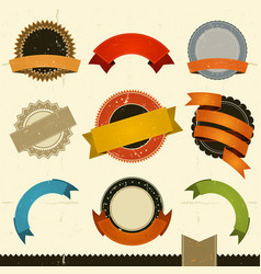 grunge banners awards and ribbons vector image