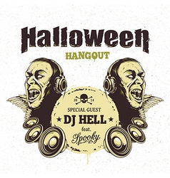 Halloween Card 3 vector image vector image