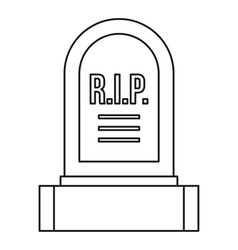 Headstone icon outline style vector image vector image