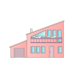 House flat design abstract architecture vector