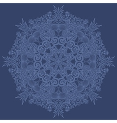 ornate snowflake vector image vector image