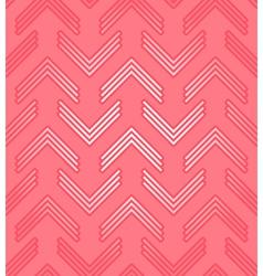 Red corner pattern vector image vector image