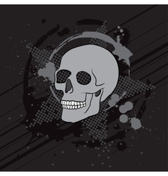 skull composition vector image