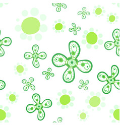Stylized flowers seamless print vector