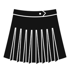 Tennis female skirt icon simple style vector