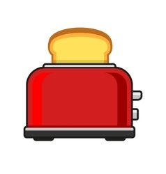 Toasts flying out of red toaster vector