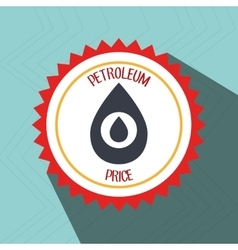 Petroleum oil barrel icon vector