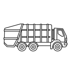 Garbage truck icon outline style vector