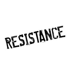 Resistance rubber stamp vector