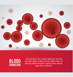 Globules blood donation icon graphic vector