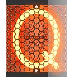 Radio tube Q vector image