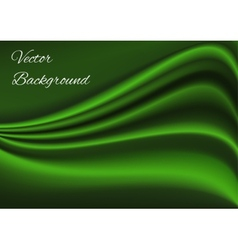 Artistic green fabric texture background vector