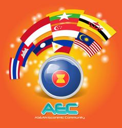 Flag of asean economic community aec 03 vector
