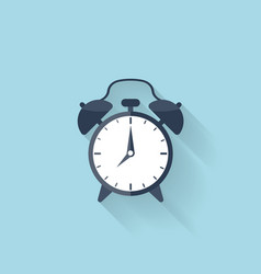 Flat alarm clock icon vector