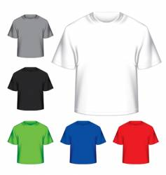 set of blank t-shirts vector image