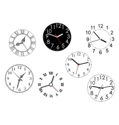 Set of isolated clock dials vector