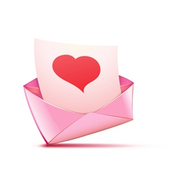 pink envelope vector image