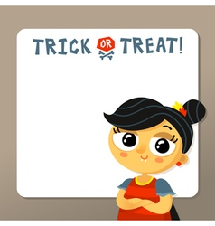 Trick or treat halloween background template with vector