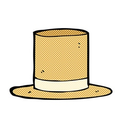 Comic cartoon old top hat vector