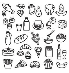 Food outline vector