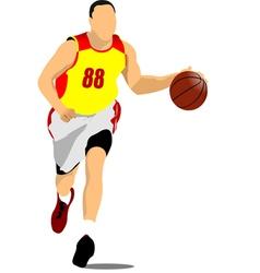 al 1011 basketball 01 vector image vector image