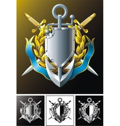 anchor dirks badge and ribbon vector image vector image