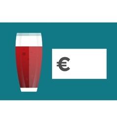 Beer bottle price blank vector image
