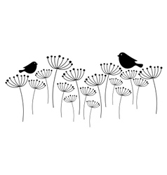 Birds on the grass vector