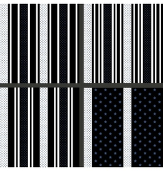 black and white striped star patterns vector image