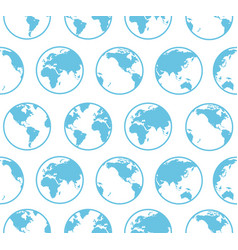 blue globe earth map background pattern vector image vector image