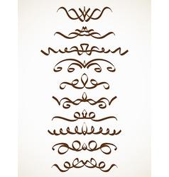 calligraphic line vector image