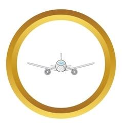 Cargo plane icon vector
