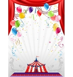 Circus background with balloons vector