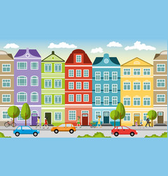 City landscape in summer can also be used as a vector